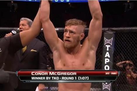 McGregor is announced the winner.
