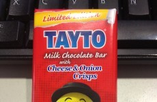 THE VERDICT: Tayto's cheese and onion crisp chocolate bar