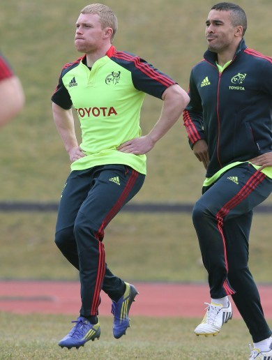 In pictures: The Munster boys try out a new dance routine in training