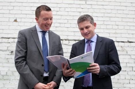 Diarmaid Smyth and John McHale of the IFAC launching today's report.