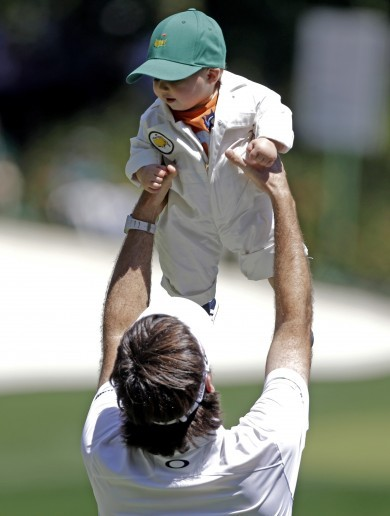 Family affair as golf elite joined by partners, kids, babies for Masters Par 3