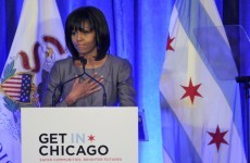 """My husband is fighting as hard as he can"" - Michelle Obama challenges politicians on guns"