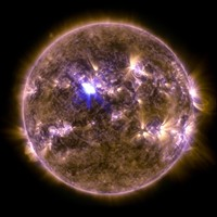 The sun emitted its biggest flare of 2013 today