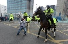 VIDEO: Newcastle fan punches a police horse after the Tyne-Wear derby