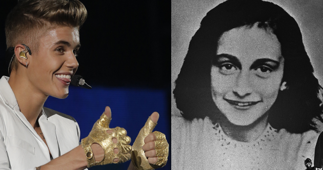The Dredge: Justin Bieber reckons Anne Frank 'would've been a Belieber'