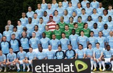 Greeks embarrassed as spoof Man City squad picture used in match programme