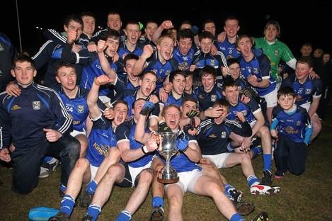 Cavan celebrate winning the Ulster U21 title.