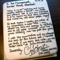 This man resigned from his job using a cake