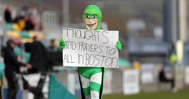 Snapshot: Hooperman pays tribute to Boston Marathon victims