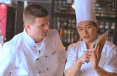 Brian O'Driscoll tries his hand at making Vietnamese spring rolls