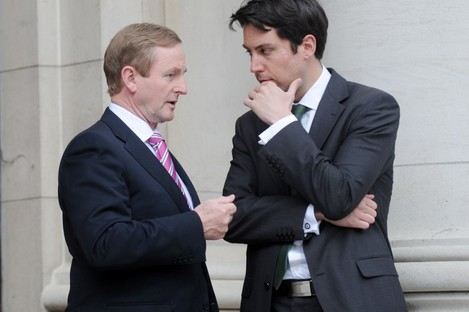 Eoghan Murphy with Taoiseach Enda Kenny (File photo)