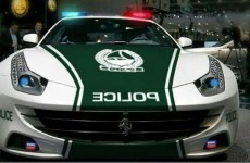 Here's your new police car... it's a Ferrari
