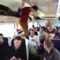 Just an average Friday on the Dublin-Galway train...