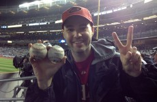 Fan catches 2 home run balls at 1 game, says he's written book on how to do it