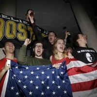 Bostonians celebrate capture of second bombing suspect