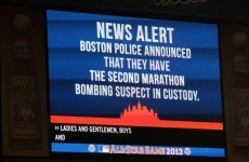 Stadium chants 'U-S-A', sings 'Sweet Caroline' as Boston suspect arrested