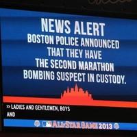 Stadium chants 'U-S-A', sings 'Sweet Caroline' as Boston suspect arrested