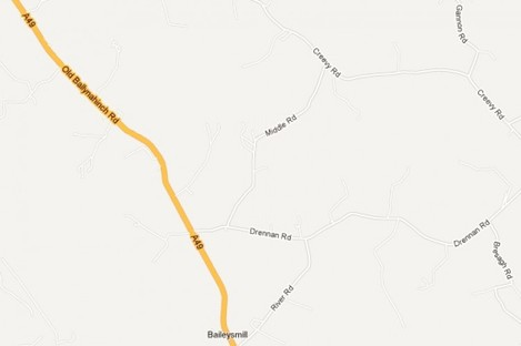 The Drennan Road/Ballynahinch Road junction remains closed following the incident.