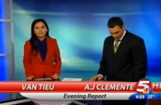 Local newsreader says 'f***ing s**t'... on his first day