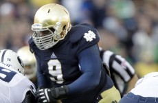 Big man with a football! 350lb lineman set to be Notre Dame's secret weapon