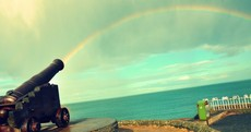 Rainbow Shooting Out of Cannon Pic of the Day