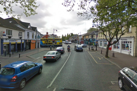 Main Street in Blanchardstown, where a retail unit was burgled last night.