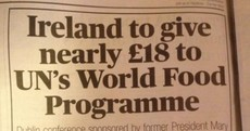 Typo of the Day: Austerity hits Ireland's budget for World Food Programme
