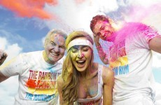 Colourful character: Brent Pope looked to be enjoying himself today