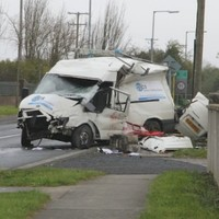 One dead, two injured after van and car crash in Swords
