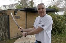 Samurai-sword wielding bishop saves neighbour from stalker