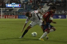 Check out the most ridiculous nutmeg we've seen in a long time