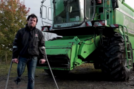 Farmer Anthony Flanagan who lost a leg in a combine harvester accident.
