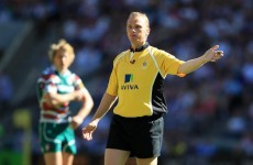 Your European rugby experience will include Ref Cam this weekend