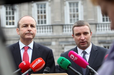 FF leader Micheal Martin with Niall Collins