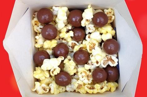 Maltesers? Check. Popcorn? Check. Together? Um...