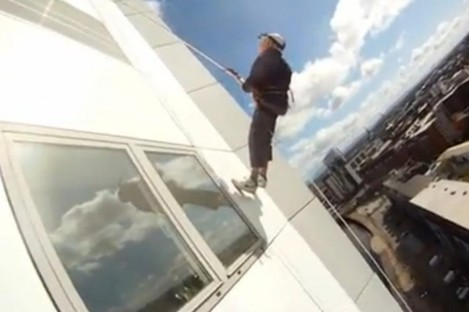 Ronnie while abseiling