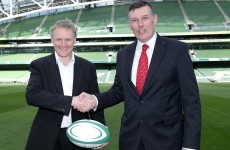 Schmidt has a blank piece of paper for his coaching ticket say IRFU