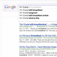 Pregnant at 10, a virgin at 60... Google searches based on age