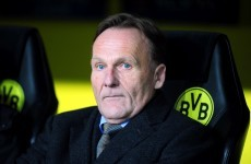 The Dortmund chairman locked himself in the toilet for last night's Champions League drama