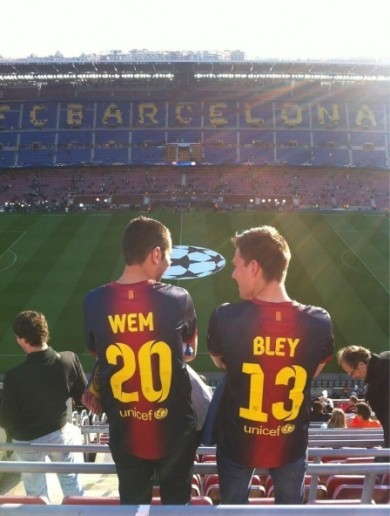 These two Barcelona fans weren't predicting tonight's result