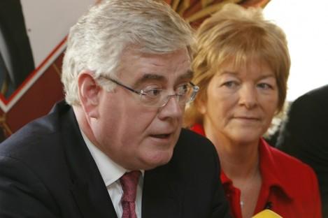 Anne Ferris TD pictured alongside Labour leader Eamon Gilmore.