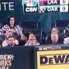 Woman takes weird selfie of her boobs while at a baseball game