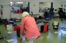 90-year-old woman does double backflip