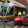 Luas crash at junction of Jervis Street and Abbey Street