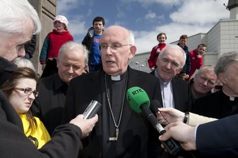 Cardinal Sean Brady at a National Vigil of Prayer at the Knock Shrine in Mayo yesterday