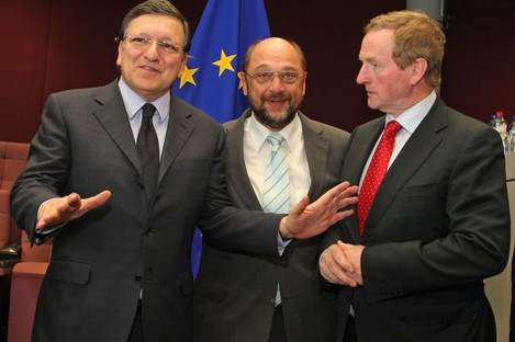 We got this: Barroso with Schulz and Kenny in Brussels yesterday
