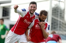 Pat's striker wins decisive penalty against Drogheda -- by handling the ball