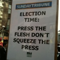Tribune workers picket Independent HQ over severance pay
