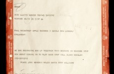 Jimi Hendrix asked Paul McCartney to come out and play... via telegram