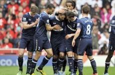 Late Adebayor strike earns Spurs huge win at the Britannia